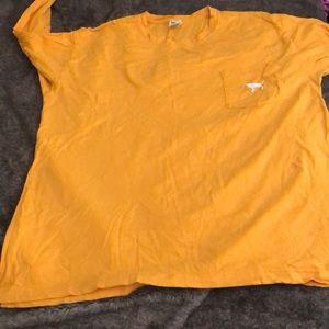 Mustard yellow long sleeve PINK T-shirt